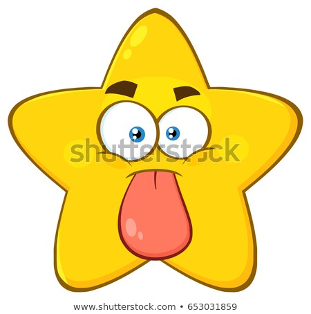 Drôle jaune star cartoon visage personnage Photo stock © hittoon