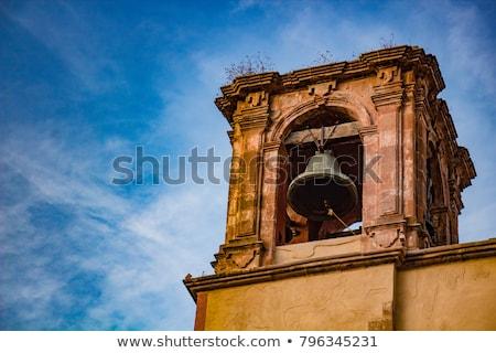 Campana torre monasterio edificio cruz iglesia Foto stock © smartin69