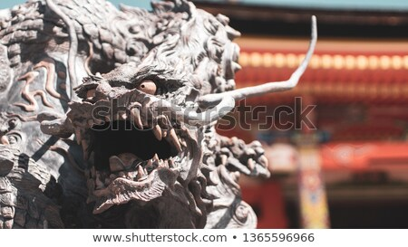 Dragon statue in front of the kiyomizu-dera temple, Kyoto, Japan Stock photo © daboost