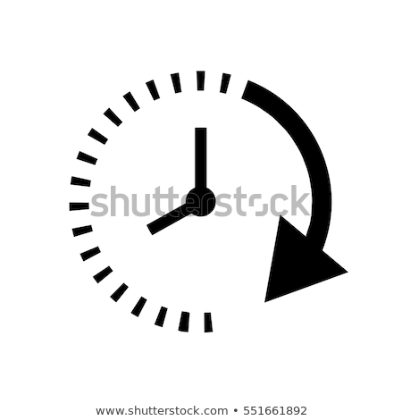 abstract clock with arrows  Stock photo © pathakdesigner