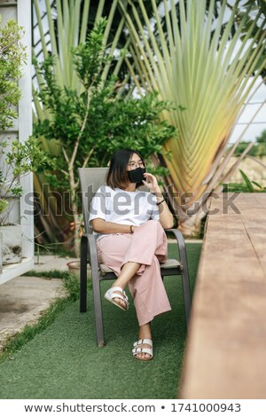 Stockfoto: Vrolijk · dame · ontspannen · hotels · zwemmen · zwembad