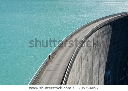 lake with concrete dam stock photo © Antonio-S