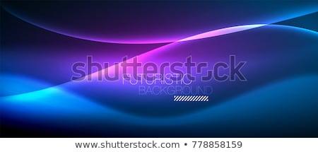 Abstract vector spectrum golf lijnen brochure Stockfoto © fresh_5265954