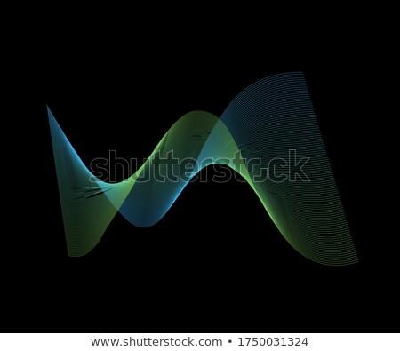 抽象的な 波 球 ロゴ メディア ベクトル ストックフォト © amanmana