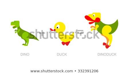 Dinossauro pato novo espécies dinossauros atravessar Foto stock © popaukropa