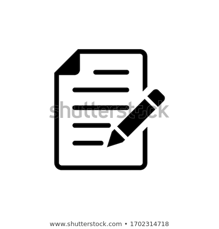 Piktogram jegyzet vékony vonal vektor ikon Stock fotó © smoki