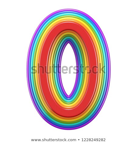 концентрический радуга числа нулевой 3D Сток-фото © djmilic