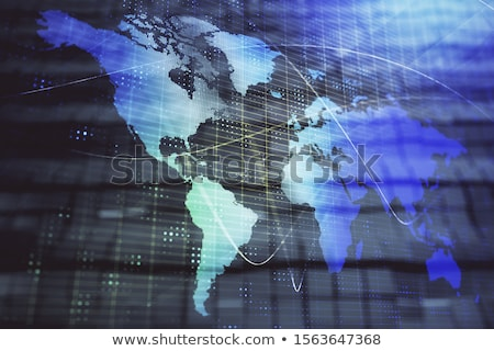 Business internazionale sviluppo illustrazione 3d lente di ingrandimento nero focus Foto d'archivio © olivier_le_moal
