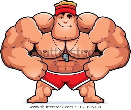 漫画 ライフガード 実例 見える 男性 笑みを浮かべて ストックフォト © cthoman