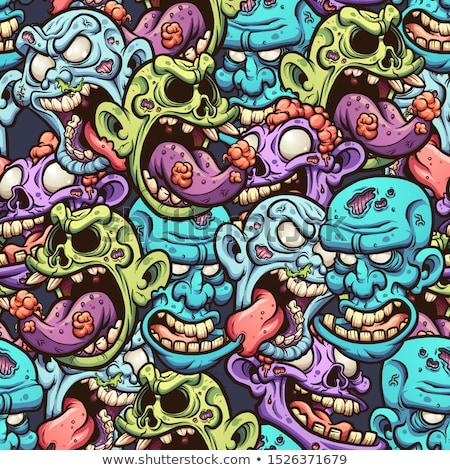 сердиться Cartoon зомби иллюстрация мало глядя Сток-фото © cthoman