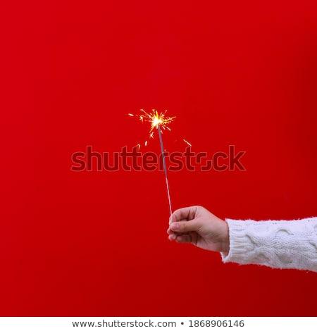 burning sparkler close-up  Stock photo © OleksandrO