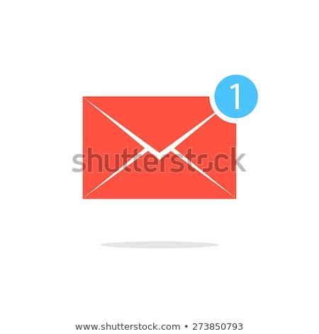Spam boríték ikon pult piros felirat Stock fotó © Natali_Brill