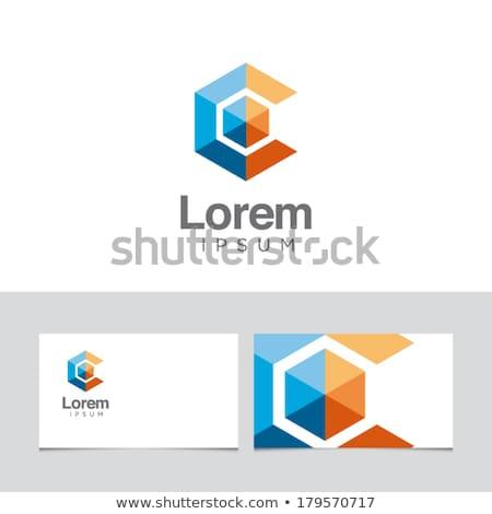 Levél hatszög logo vektor ikon szimbólum Stock fotó © blaskorizov