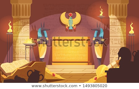 Tomb of egyptian pharaoh at pyramids Stock photo © jossdiim