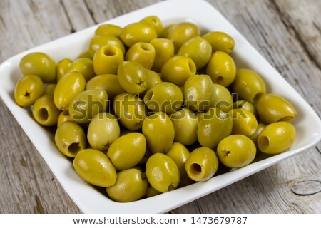 Green pitted olives Stock photo © maxsol7