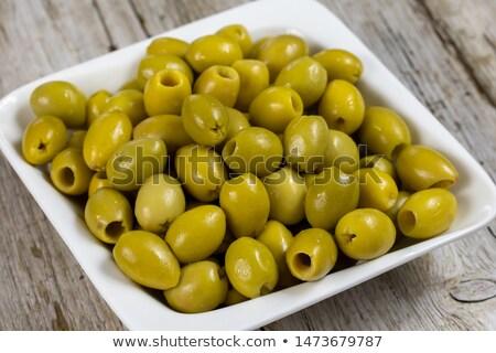 verde · oliva · grande · fruto - foto stock © maxsol7