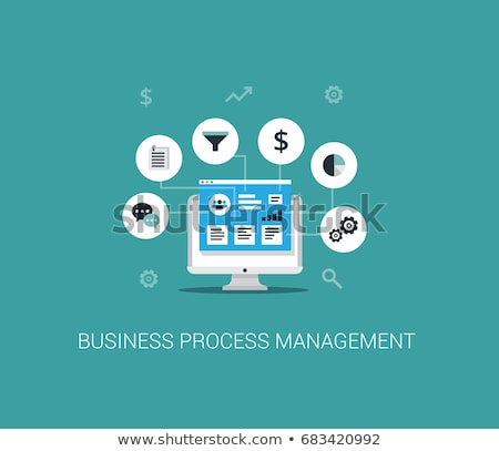 Business process management concept vector illustration. Stock photo © RAStudio