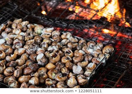 caragols a la llauna catalan recipe of snails stock photo © nito