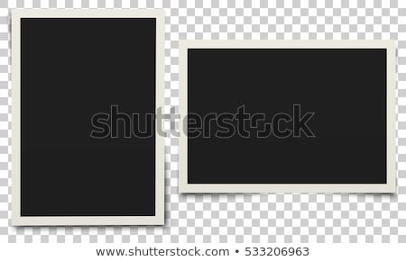 Set of photo frames with shadow. Template for photo, image. White border on a transparent background stock photo © AisberG
