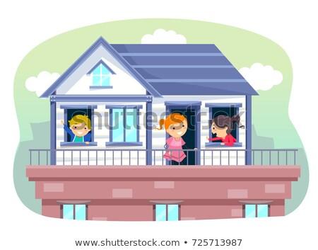 oynamak · ev · çocuklar · örnek · Bina · birlikte - stok fotoğraf © lenm