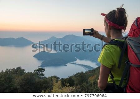 幸せ · 女性 · リュックサック · グランドキャニオン · 冒険 · 旅行 - ストックフォト © dolgachov