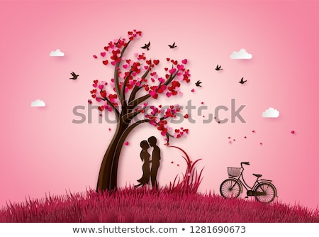 couple in love heart image vector illustration stock photo © robuart