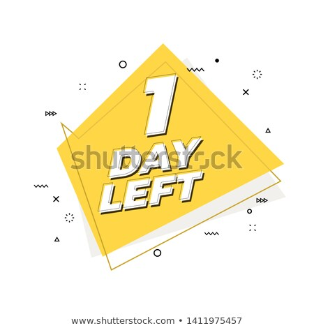 memphis style number of days left promotional banner design Stock photo © SArts