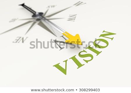 コンパス 白 ビジョン マグネチック 針 ポインティング ストックフォト © make