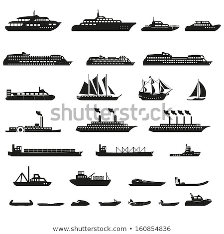 steamboat marine transport vessel cargo ship icons stock photo © robuart
