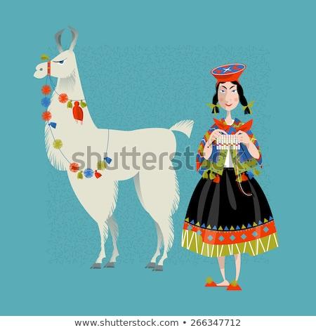 illustration of peruvian woman stock photo © adrenalina