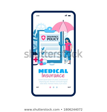 Injured Woman Health Insurance Claim Form Stock photo © AndreyPopov