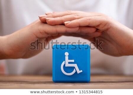 ludzi · niepełnosprawnych · handicap · ikona · strony - zdjęcia stock © andreypopov