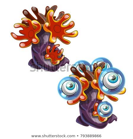 морской изолированный белый вектора Cartoon Сток-фото © Lady-Luck