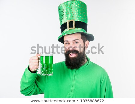 Green ale beer traditional irish saint patricks day drink cocktail Stock photo © orensila