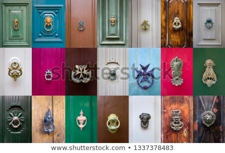 набор традиционный парадная дверь Мальта зданий дома Сток-фото © boggy