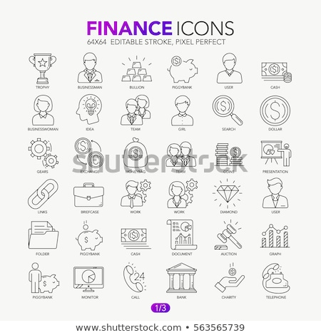 üzletember csomag pénz eps 10 üzlet Stock fotó © netkov1