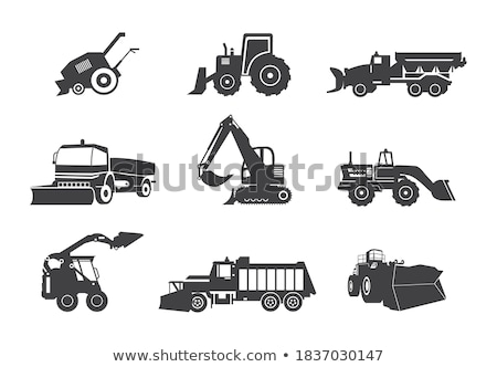 Stockfoto: Trekker · machines · vector · uitrusting