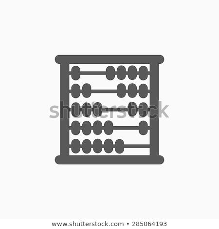 számológép · vektor · vonal · ikon · izolált · fehér - stock fotó © angelp