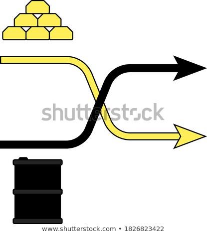 Gold Öl Vergleich Tabelle Symbol Schatten Stock foto © angelp