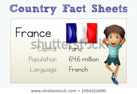 Country fact sheet for France Stock photo © colematt