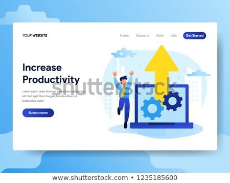 produtividade · aterrissagem · página · modelo · fluxo · de · trabalho - foto stock © rastudio