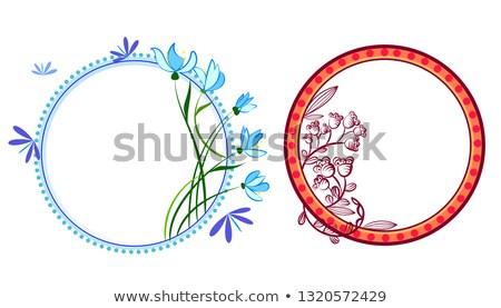 frame · collectie · cute · retro · bloemen - stockfoto © heliburcka