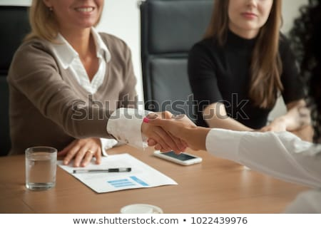 People are working on hiring, human resources and recruitment together Stock photo © sgursozlu