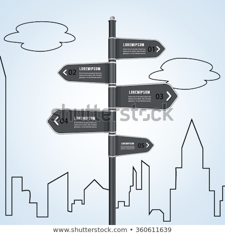 Stock photo: Street Signs Brochure Web Design
