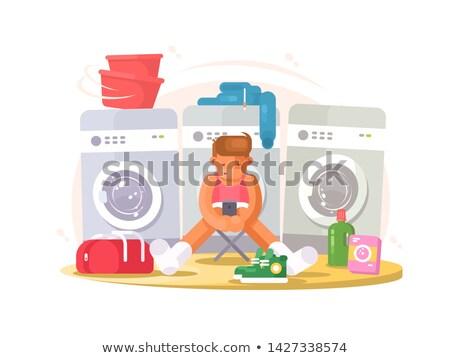 男 下着 待って 洗濯 服 洗濯 ストックフォト © jossdiim