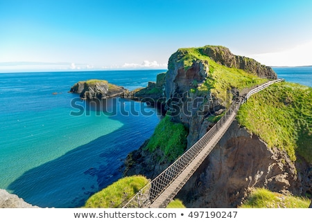 Foto stock: Carrick A Rede Rope Bridge County Antrim Northern Ireland