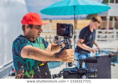 produção · equipe · comercial · vídeo · operador · câmera - foto stock © galitskaya