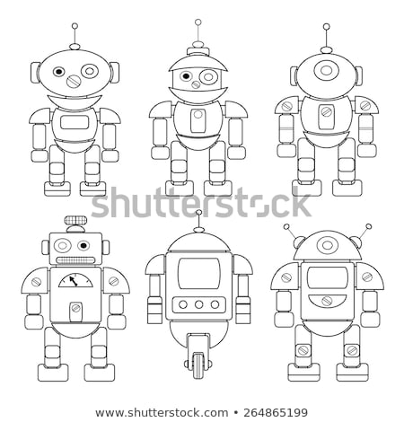 differences color book with fantasy robots Stock photo © izakowski
