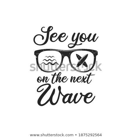 estate · onda · logo · design · elemento · spiaggia · acqua - foto d'archivio © jeksongraphics