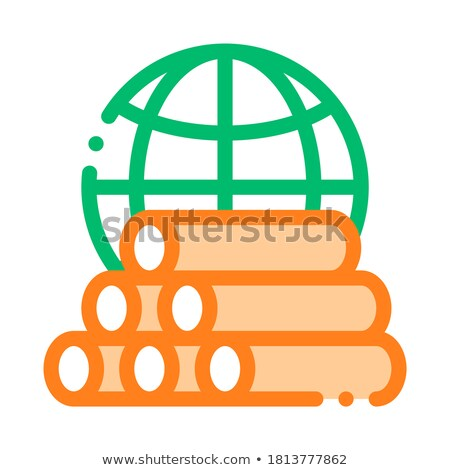 Tubes Planet Earth Problem Vector Thin Line Icon Stock photo © pikepicture